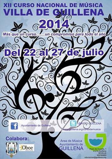 Cartel del XII Curso Nacional de Música Villa de Guillena 2014