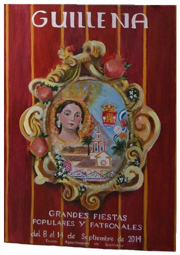 Cartel anunciador de las Fiestas de Guillena 2014